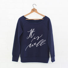 It Is Well Wide-Neck Pullover - Grace + Porter