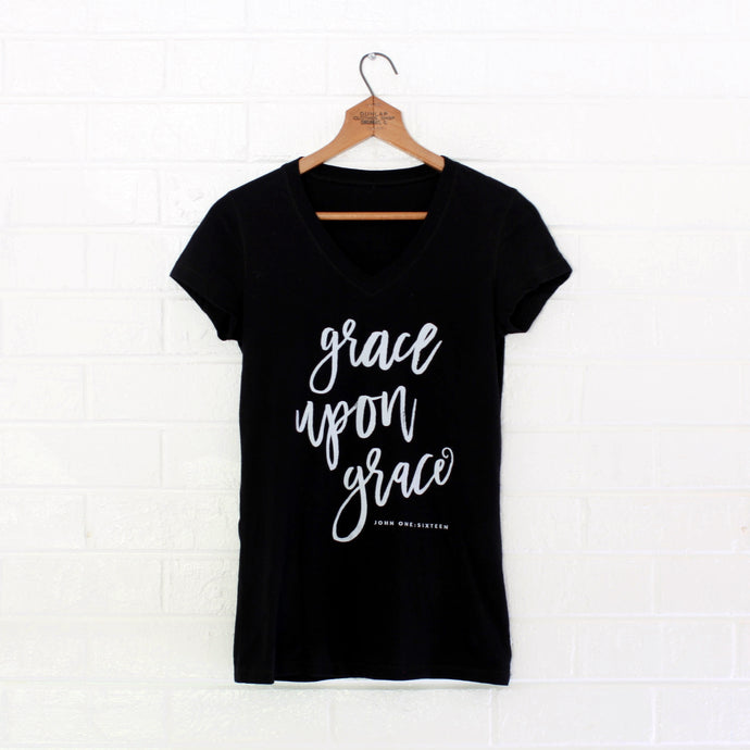 Grace Upon Grace V-Neck - Grace + Porter