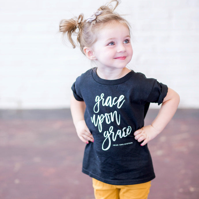 Grace Upon Grace Kids Tee - Grace + Porter