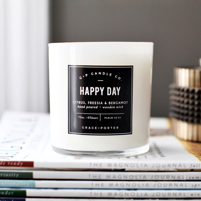 Happy Day Candle - Grace + Porter