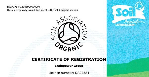 Soil Association Certificate