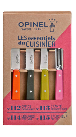 Opinel - Les essentiels du cuisinier (Fifties) / Opinel - Fifties 4 Essentials Knives Box Set