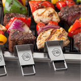 Brochettes double avec glissière (Set de 4) / Double Pronged Sliding Skewers