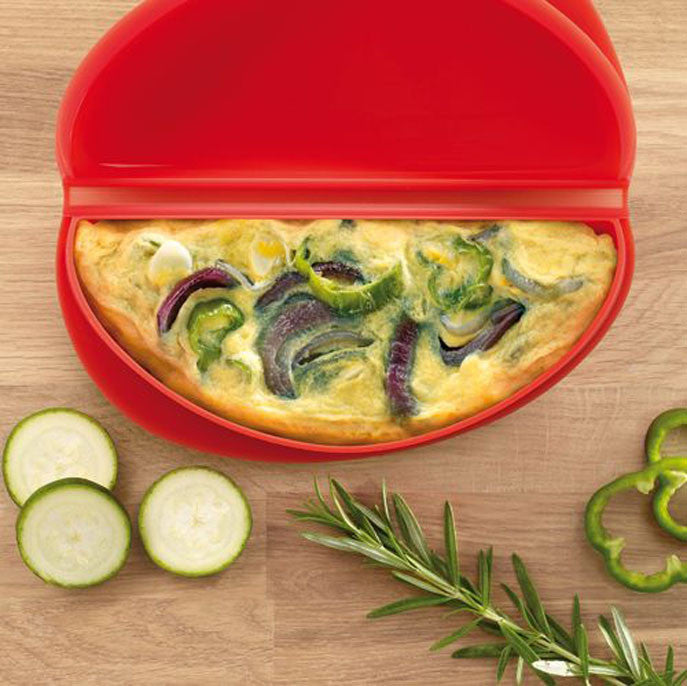 Moule à omelette en silicone (Rouge) / OMELET COOKER RED
