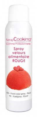 Spray velour alimentaire Rouge 150ml - Ramassage en boutique uniquement