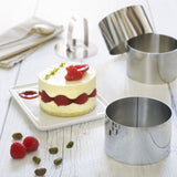 Ensemble de 6 emporte-pièces et poussoirs ronds / Food Stacking set