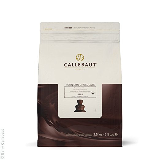 Chocolat pour fontaines 2.5kg-noir / Dark chocolate for chocolate fountain 2.5kg