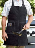 Tablier en cuir noir pour le BBQ Outset / Outset Black Leather Grill Apron