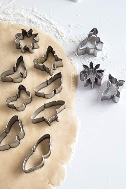Kit emporte-pièces fleurs et papillons / Mini Flower and Butterfly Cookie Cutter Set