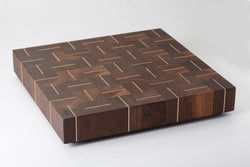 Planche Zigzag planche en bout de grain - noyer/érable 13x16 / Cutting board Zigzag end grain wood  - walnut/maple 13x16