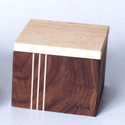 Main de sel noyer/érable petite taille 2½ x 3½ x 2½ / Salt box walnut/maple small size 2½ x 3½ x 2½