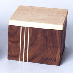 Main de sel noyer/érable taille 2½ x 3½ x 3½ / Salt box walnut/maple size 2½ x 3½ x 3½