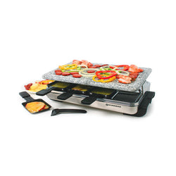 Stelvio - Raclette pour 8 personnes avec grill en granite / 8 Person Stelvio Raclette Party Grill with Granite Stone