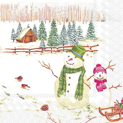 Serviette de table ''Winterly countryside''