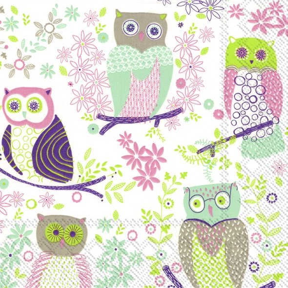 Serviette de table ''Jolly owls''