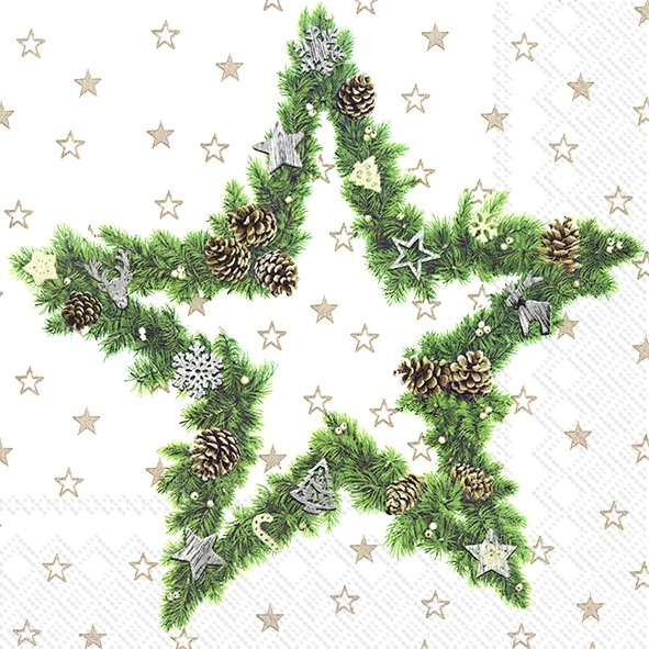 Serviette de table ''Fir tree star''