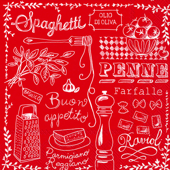 Serviette de table ''Pasta Red''