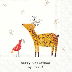 Serviette de table ''merry christmas, my deer''