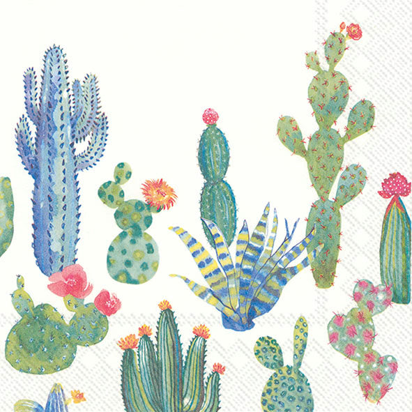 Serviette de table ''Green cactus''