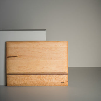 Planche Ergo érable/noyer/cerisier 12x15'' /Ergo Cutting board maple/walnut/cherry 12x15