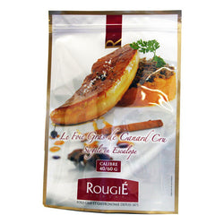 Escalopes de foie gras de canard surgelé (Prix au gr, Tranches d'environ 50g, 20 uni) Ramassage en boutique / Flash Frozen Slices of Raw Duck Foie Gras, In Store Pick Up (Price per Gram, 20 Slice of about 50g)