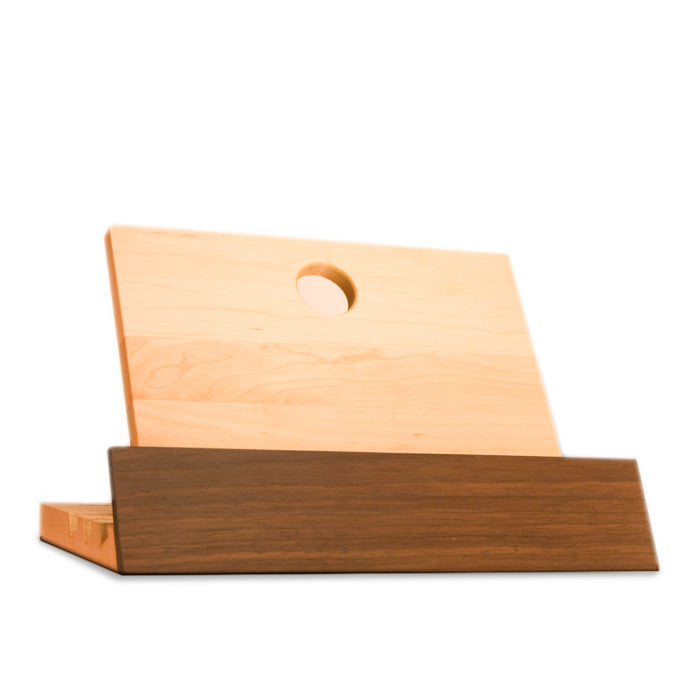 Porte livre érable/noyer Luthier 7x6x12 / Arbol walnut and maple cookbook stand 7x6x12