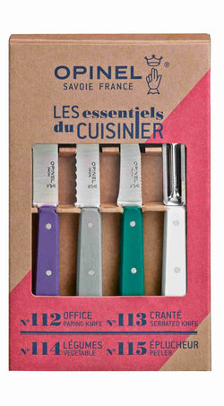 Opinel - Les essentiels du cuisinier (Art Déco) / Opinel - Art Déco 4 Essentials Knives Box Set