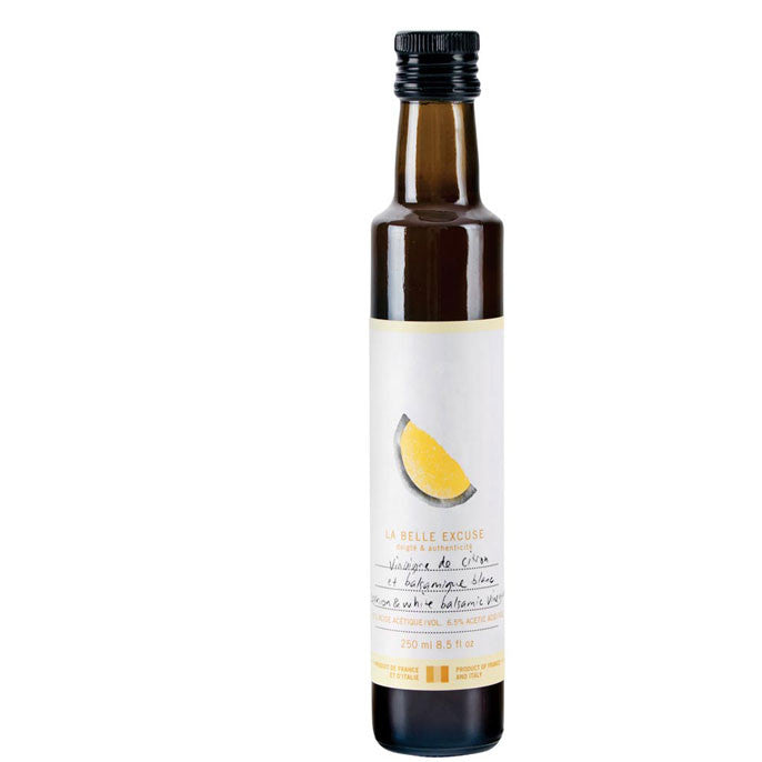 Vinaigre de citron et balsamique blanc 250ml / Lemon and white balsamic vinegar 250ml