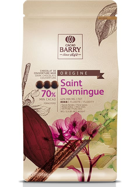 Chocolat  St-Domingue Pure Origine 70% cacao / Pure Origine St-Domingue Chocolate 70% cacao