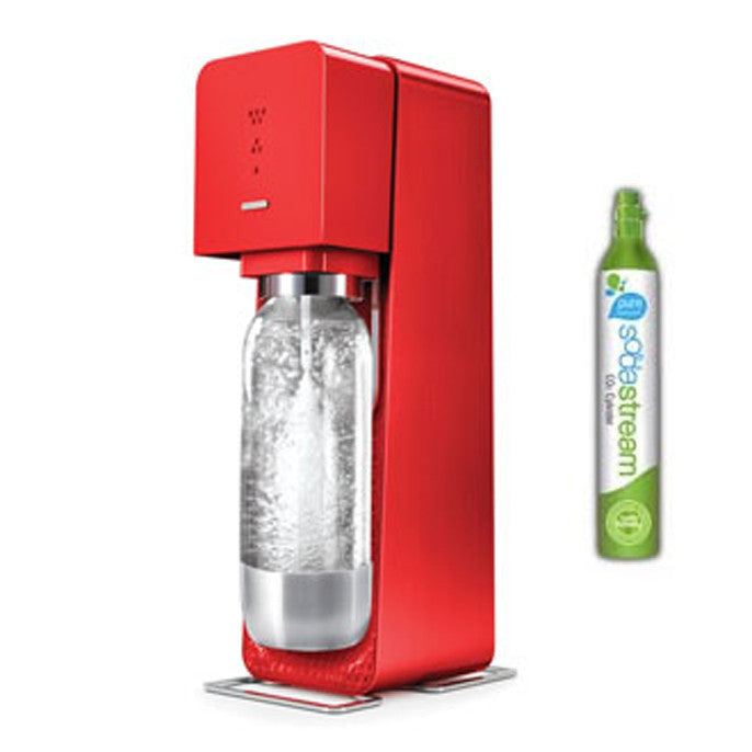 TOUT NOUVEAU - Machine à soda et eau gazeuse SODASTREAM SOURCE - Rouge - / Source Red Plastic Sparkling Water Maker