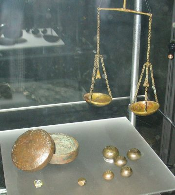 Scales used by Viking traders to weigh silver and gold.