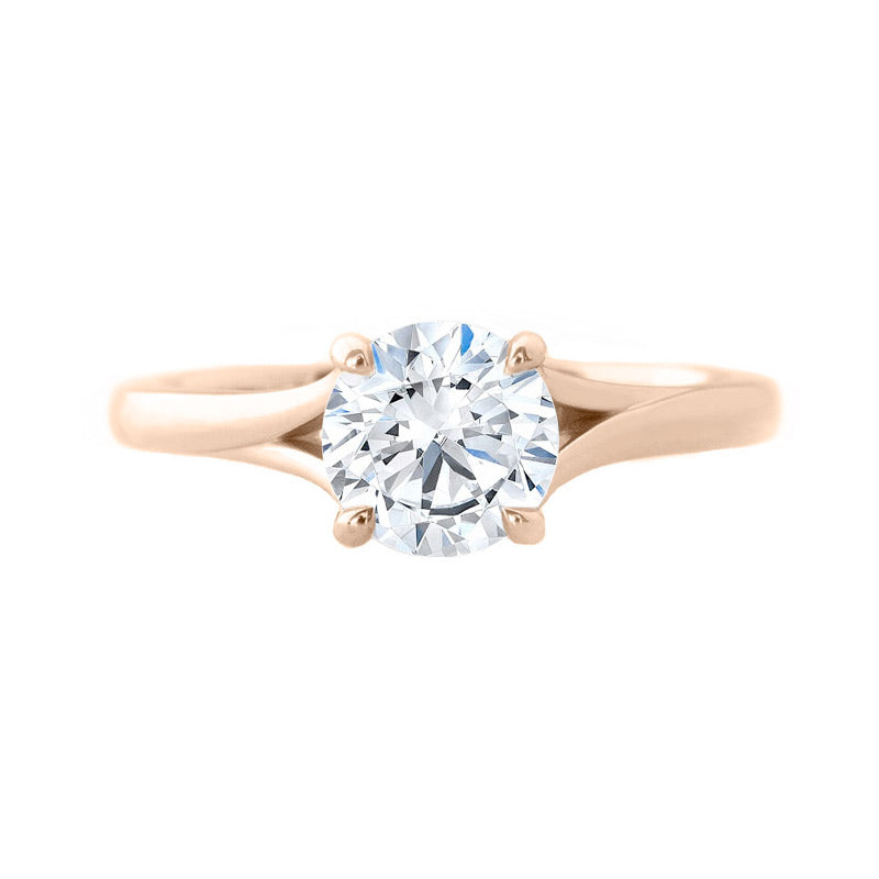 The Split Solitaire 18k Rose Gold Engagement Ring