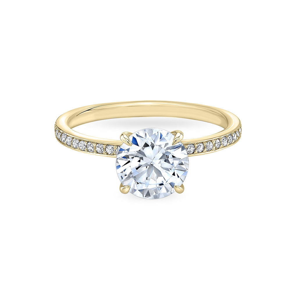 The Four Pointed Pave Blossom Engagement Ring