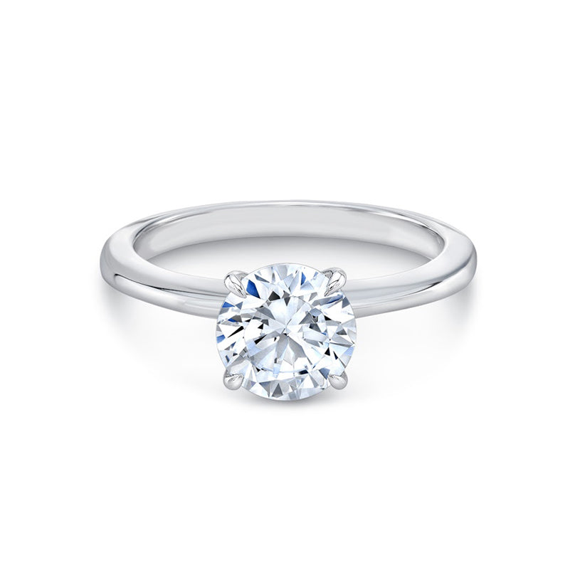 Diamond Foundry Four Pointed Blossom Engagement Ring White Gold