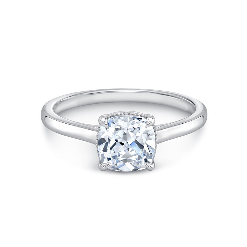 Four Pointed Grove Engagement Ring White Gold