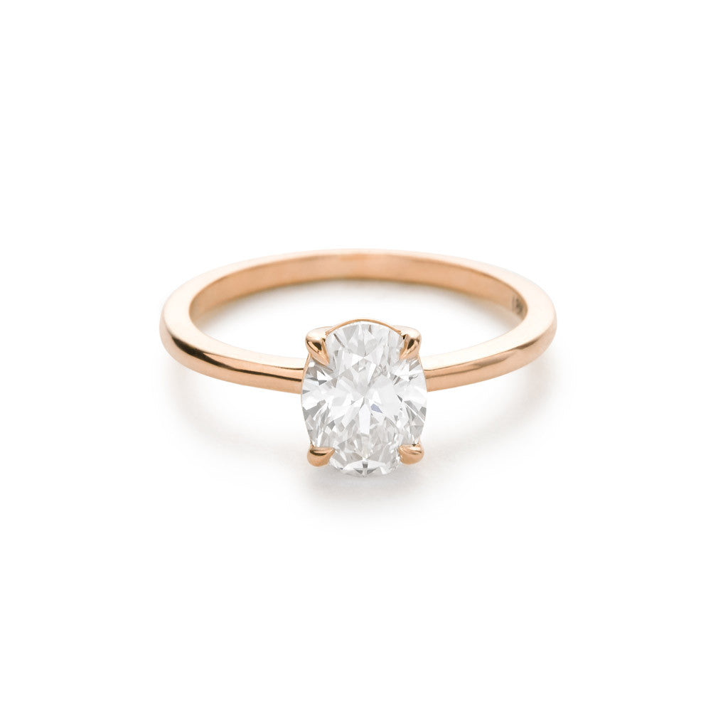 Diamond Foundry Oval Engagement Ring 18k Rose Gold