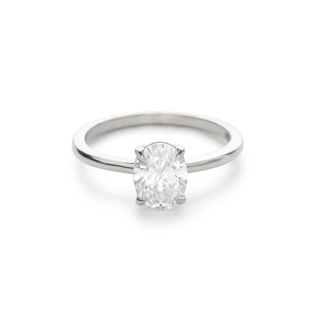 Diamond Foundry Oval Engagement Ring 18k White Gold