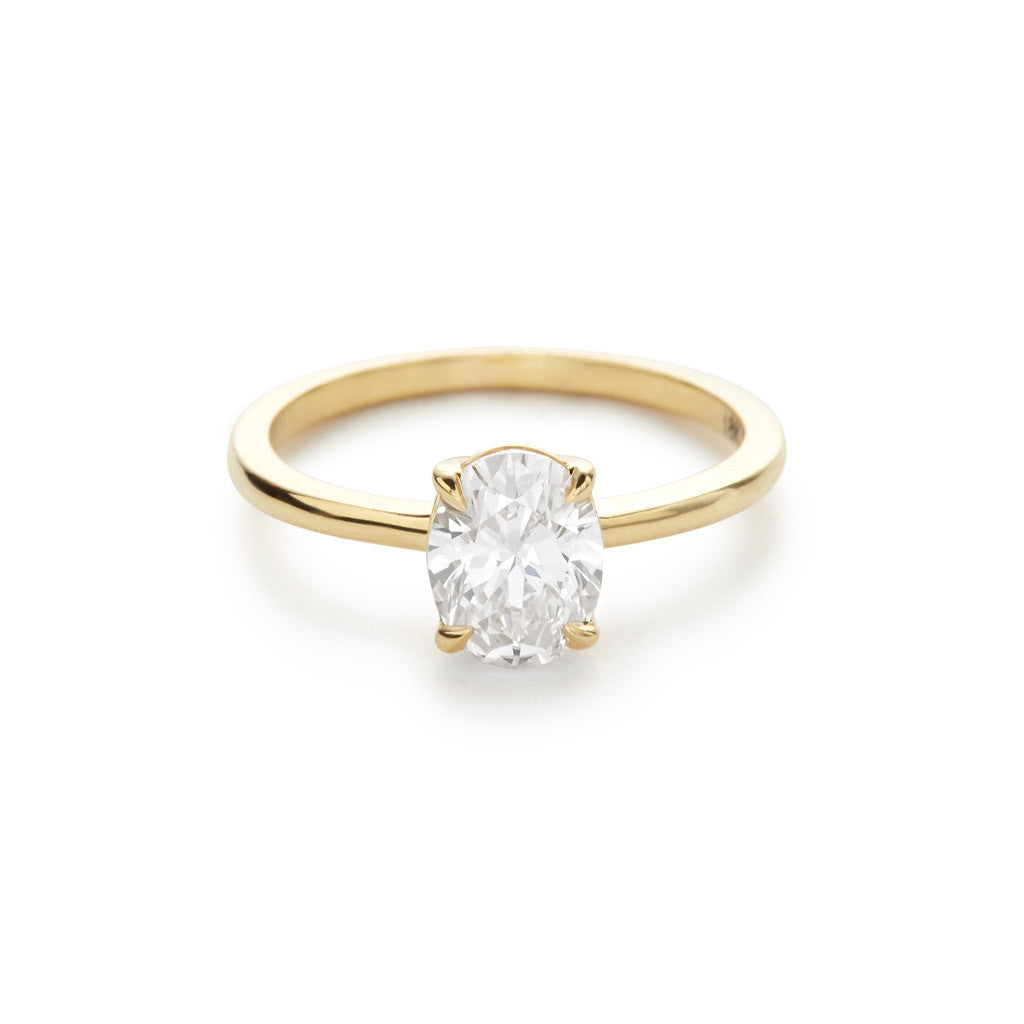 The Oval 18K Yellow Gold