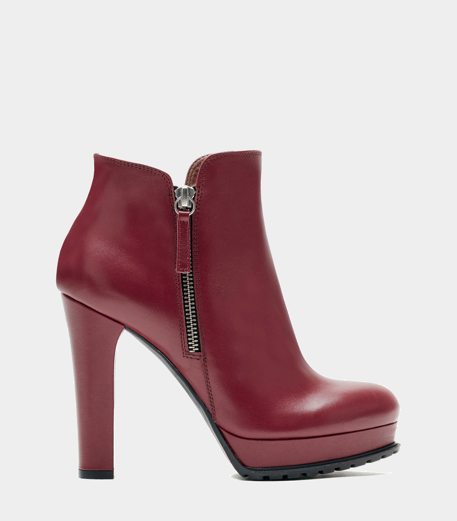 High Heel Ankle Boots Zoe Red
