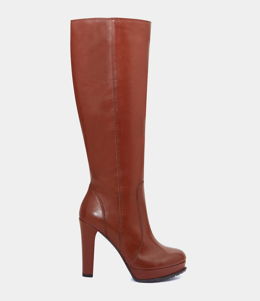 High Heel Boots Elva Brown