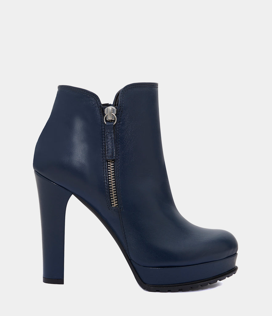 High Heel Ankle Boots Zoe Blue