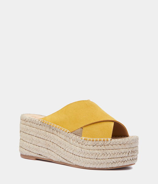 Heeled Mules Ibia Yellow