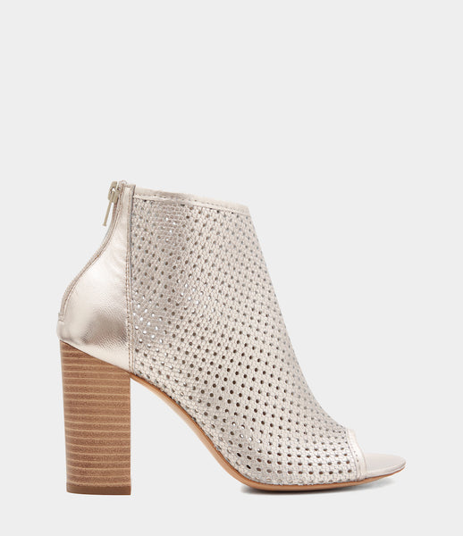 High Heeled Ankle Boots Leonora Gold