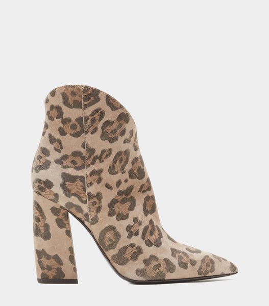 Block Heel Ankle Boot  Anessa Brown