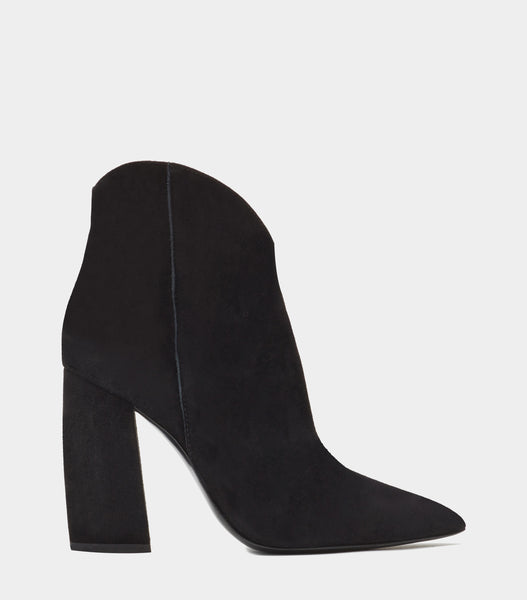Block Heel Ankle Boot  Anessa Black
