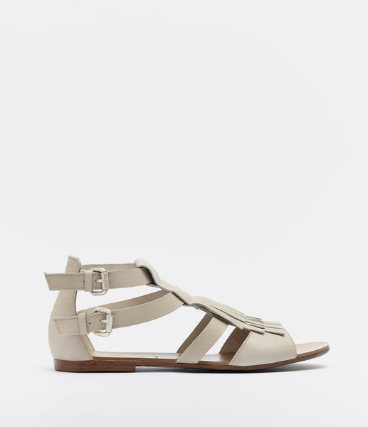 Sandals With Fringes Annica Brown