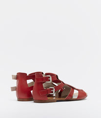 Sandals With Fringes Annica Red