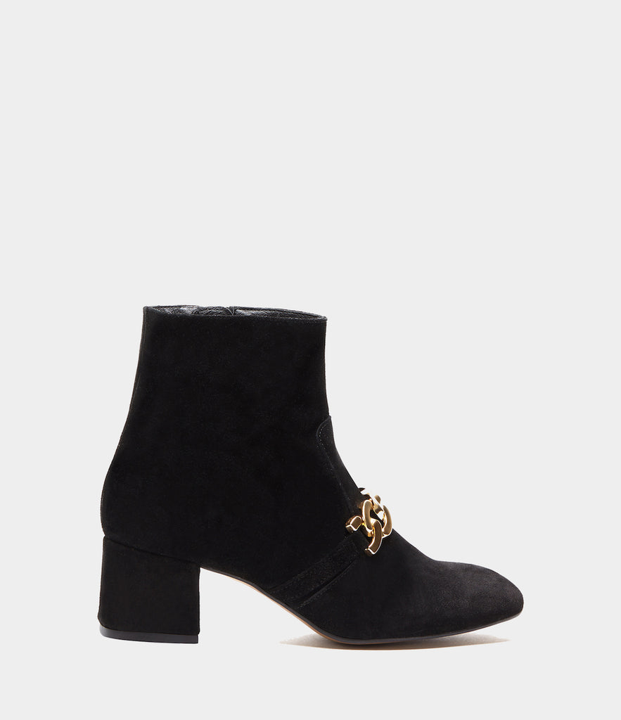 Block Heel Booties Cinzia Black