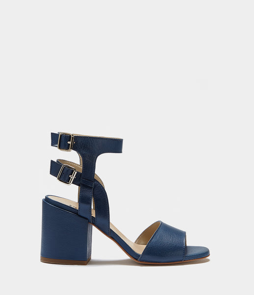 Block Heel Sandals Estelle Blue