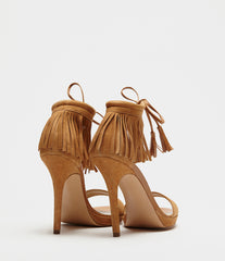 High Sandals With Fringes Fenja Brown